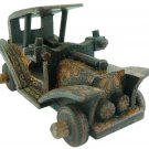 Hand-crafted Wooden Miniature Vintage Car with Batik Motive, Ford Model T (Scale 1:25)