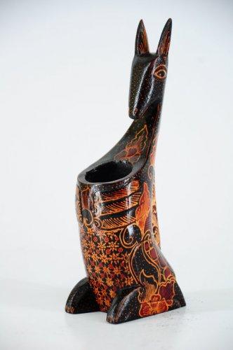 Hand-crafted Kangaroo shaped Pen Holder with Batik Motives