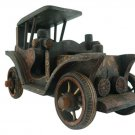 Hand-crafted Wooden Miniature Vintage Car with Batik Motive, Ford Model T (Scale 1:14)