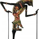 Hand-crafted Wood Shadow Puppet (Wayang Kulit) with Batik Motives, Sita of Ramayana Epic (S)