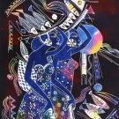 Original Batik Art Painting on Cotton, 'Ladies Carrying Basket of Fish' by Zabid (75cm x 90cm)