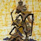 Original Batik Art Painting on Cotton, 'Rama and Sinta' by Wahid (75cm x 90cm)