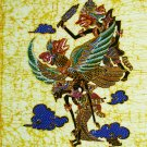 Original Batik Art Painting on Cotton, 'Garuda saving Sinta' by Wahid (75cm x 90cm)