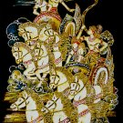 Original Batik Art Painting on Cotton, 'Traditional Horse Chariot Racing' by Wahid (45cm x 75cm)