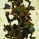 Original Batik Art Painting on Cotton, 'Arjuna' by Wahid (45cm x 75cm)