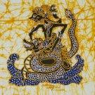 Original Batik Art Painting on Cotton, 'Warrior Ontosena' by Wahid (30cm x 30cm)