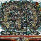 Original Batik Art Painting on Cotton, 'Tree of Life' by M. Yono (90cm x 100cm)