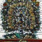 Original Batik Art Painting on Cotton, 'Tree of Life' by M. Yono (75cm x 90cm)