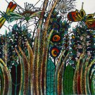 Original Batik Art Painting on Cotton, 'Luxuriant Grass' by M. Yono (90cm x 75cm)