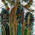 Original Batik Art Painting on Cotton, 'Luxuriant Grass' by M. Yono (75cm x 90cm)
