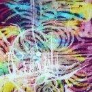 Original Batik Art Painting on Silk, 'Psychedelic' by Musa (60cm x 90cm)