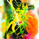 Original Batik Art Painting on Silk, 'Abstract' by Musa (13cm x 18cm)