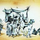 Original Batik Art Painting on Cotton, 'Desert Traveller' by Mohsein (150cm x 90cm)