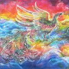 Original Batik Art Painting on Cotton, 'Phoenix' by Kapitan (150cm x 90cm)