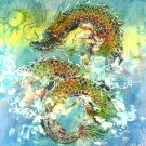 Original Batik Art Painting on Cotton, 'Warrior Dragon' by Kapitan (75cm x 90cm)