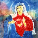 Original Batik Art Painting on Cotton, 'Virgin Mary' by Kapitan (75cm x 90cm)