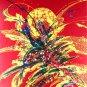 Original Batik Art Painting on Cotton, 'Abstract' by Jeffri (75cm x 90cm)