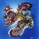 Original Batik Art Painting on Cotton, 'Warrior Dragon' by Jeffri (75cm x 90cm)