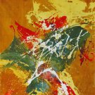Original Batik Art Painting on Cotton, 'Abstract' by Jaafar (75cm x 90cm)