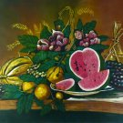 Original Batik Art Painting on Cotton, 'Still Life' by Hamidi (90cm x 75cm)