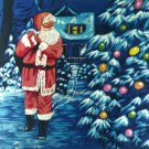 Original Batik Art Painting on Cotton, 'Christmas Night' by Hamidi (90cm x 75cm)