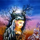 Original Batik Art Painting on Cotton, 'Fantasy' by Hamidi (90cm x 75cm)