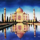 Original Batik Art Painting on Cotton, 'Taj Mahal' by Hamidi (90cm x 75cm)