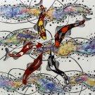 Original Batik Art Painting on Cotton, 'Koi Fish' by Agung (45cm x 50cm)