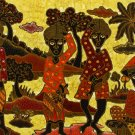 Original Batik Art Painting on Cotton, 'Fruit Sellers' by Agung (75cm x 45cm)