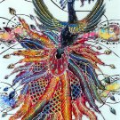 Original Batik Art Painting on Cotton, 'Phoenix' by Agung (45cm x 75cm)