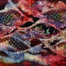 Original Batik Art Painting on Cotton, 'Fish and Prosperity' by Agung (75cm x 45cm)