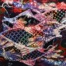 Original Batik Art Painting on Cotton, 'Fish and Longevity' by Agung (75cm x 45cm)