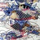 Original Batik Art Painting on Cotton, 'Fish and Prosperity' by Agung (45cm x 75cm)