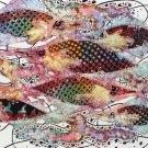 Original Batik Art Painting on Cotton, 'Fish and Prosperity' by Agung (75cm x 45cm)