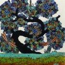 Original Batik Art Painting on Cotton, 'Tree of Wealth' by Agung (45cm x 50cm)