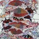 Original Batik Art Painting on Cotton, 'Fish and Longevity' by Agung (75cm x 90cm)