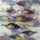 Original Batik Art Painting on Cotton, 'Fish and Prosperity' by Agung (75cm x 90cm)