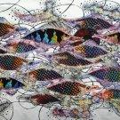 Original Batik Art Painting on Cotton, 'Fish and Longevity' by Agung (150cm x 90cm)
