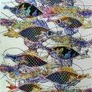 Original Batik Art Painting on Cotton, 'Fish and Prosperity' by Agung (90cm x 150cm)