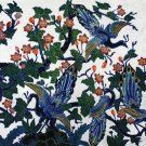 Original Batik Art Painting on Cotton, 'Peacocks on a Tree' by Agung (150cm x 90cm)