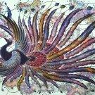 Original Batik Art Painting on Cotton, 'Phoenix' by Agung (150cm x 90cm)