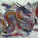 Original Batik Art Painting on Cotton, 'Warrior Dragon' by Agung (150cm x 90cm)