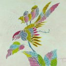 Original Batik Art Painting on Cotton, 'Oriental Bird' by Anfei (30cm x 30cm)