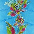Original Batik Art Painting on Cotton, 'Oriental Bird' by Anfei (45cm x 75cm)