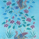 Original Batik Art Painting on Cotton, 'Oriental Wild Ducks' by Anfei (45cm x 75cm)