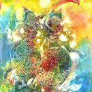 Original Batik Art Painting on Cotton, 'Traditional Dancers' by Kapitan (75cm x 90cm)