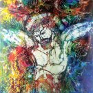 Original Batik Art Painting on Cotton, 'Jesus on Cross' by Kapitan (90cm x 100cm)