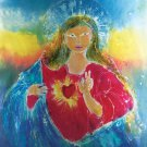 Original Batik Art Painting on Cotton, 'Virgin Mary' by Kapitan (90cm x 150cm)