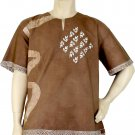 Eco-friendly Natural Dyed Batik Short Sleeves Shirt