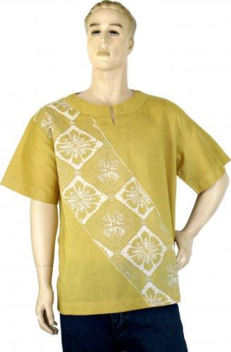 Eco-friendly Natural Dyed Batik Short Sleeves Shirt